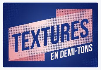 Textures demi-tons faites main