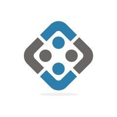 community people logo vector
