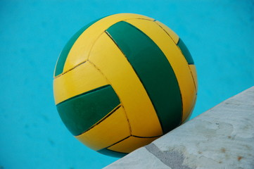 Water polo ball isolated