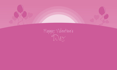 Happy Valentine with pink backgrounds
