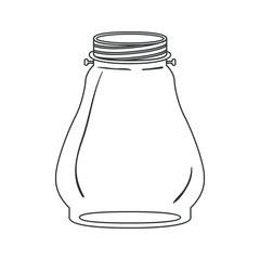 Mason jar icon. Retro vintage decoration and canning theme. Isolated design. Vector illustration