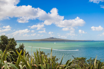 View to Rangitoto volcano from Devonport, Auckland