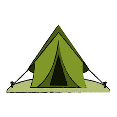 drawing tent equipment camping activities vector illustration eps 10