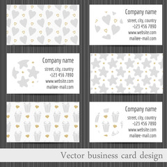 Vector set of business cards templates abstract background.