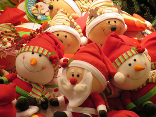christmas decoration with toys