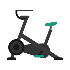 stationary bicycle machine gym sport vector illustration eps 10