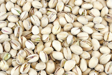 fresh roasted pistachio as food background