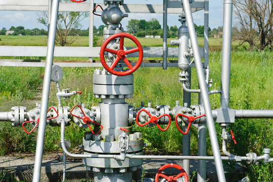 wellhead in the oil and gas industry.