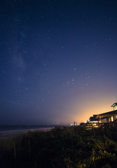 Starry Sky on the Beach at Night