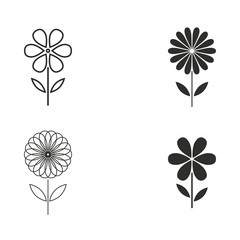 Flower icon set.