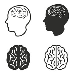 Brain icon set.
