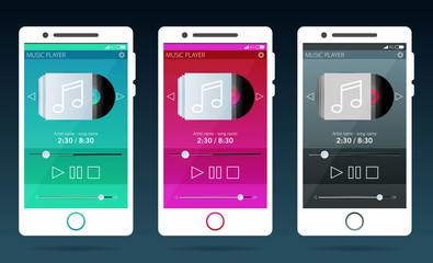Mobile Application Interface. Music Player