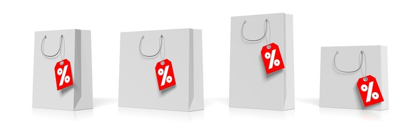 Sale concept, shopping bags