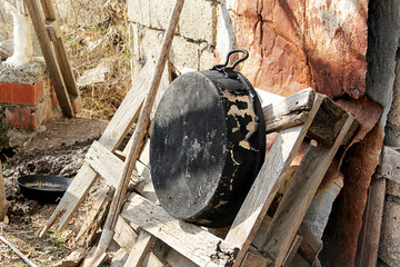 Wedding meal preparation with Traditional Turkish Cooking Boiler