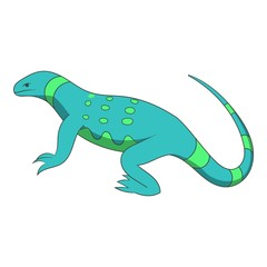 Blue lizard icon. Cartoon illustration of blue lizard vector icon for web