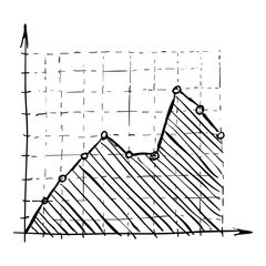 Growth chart infographics. Hand drawn illustration of growth chart vector infographics for web