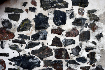 Stone wall closeup for background or texture