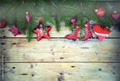 Weihnachtlicher hintergrund schlittschuhe mit for Weihnachtlicher hintergrund