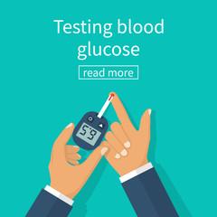 Diabetes concept vector