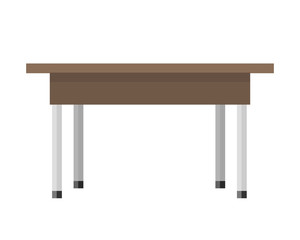 Wooden Table in Flat
