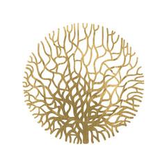 Graphic coral circle
