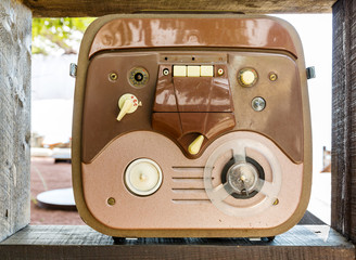 Old reel to reel tape recorder