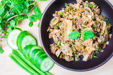 Spicy minced pork Thai Food