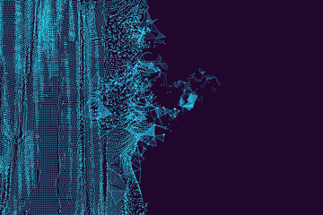 Wavy abstract graphic design, a sense of science and technology background.