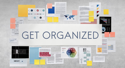 Get Organized Management Strategy Concept