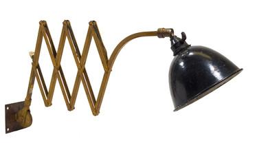 alte antike design-lampe, bauhaus um 1920