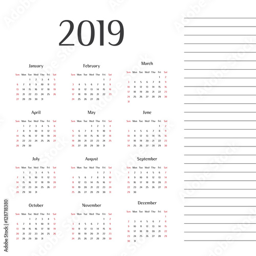 year 2019 calendar design modern calendar calendar
