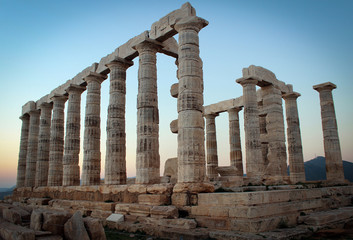 Temple Of Poseidon on Cape Sounion, Greece
