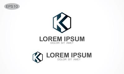 polygon letter K logo