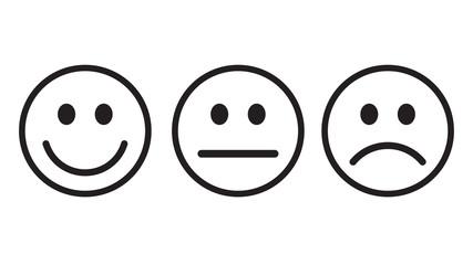 Smiley icon outline set vector