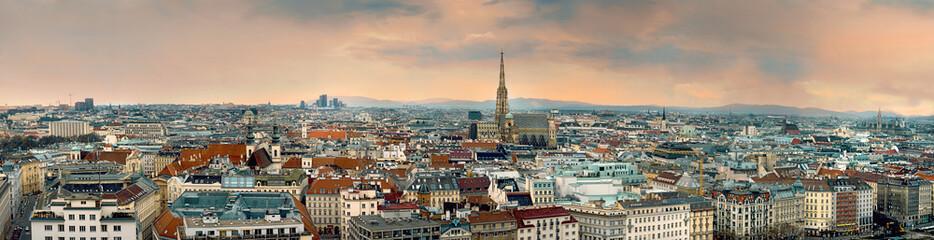 Keuken foto achterwand Wenen vienna city panorama austria