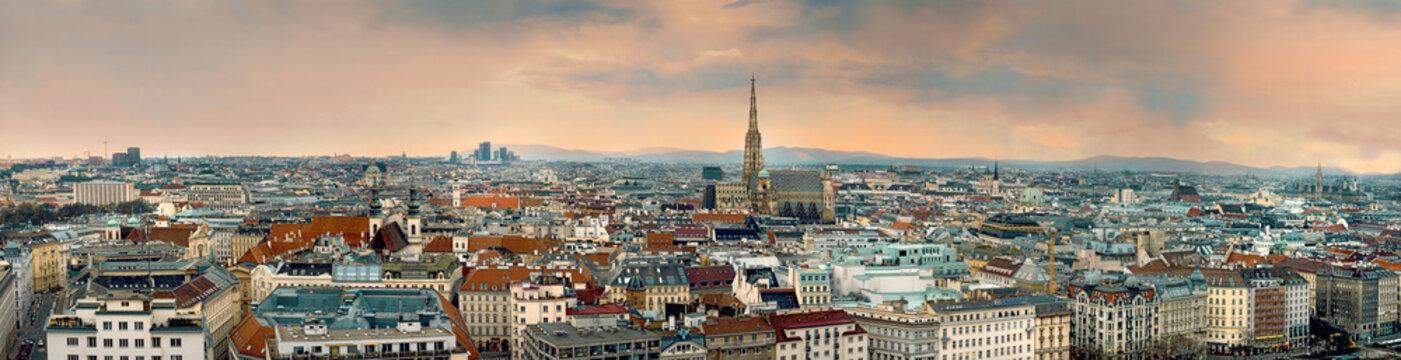 vienna city panorama austria