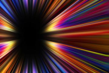 Colorful starburst explosion border