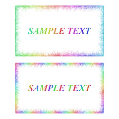 Business card border templates in rainbow colors