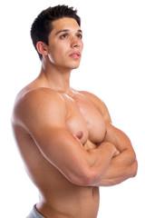 Bodybuilder Bodybuilding Muskeln Mann stark muskulös jung schau