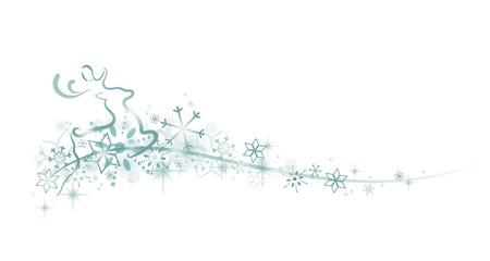Rentier Schneeflocken Verzierung