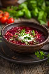 Borscht, Ukrainian and Russian  beetroot soup