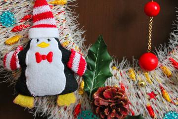 декоративное новогоднее украшение, элемент рождественского венка