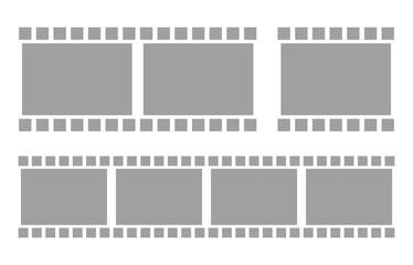 Seamless Gray Filmstrips