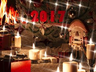 3d rendering of New year still life