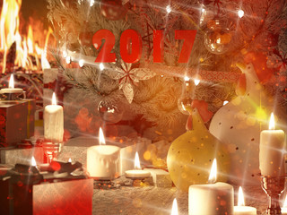 3d rendering of new year still life