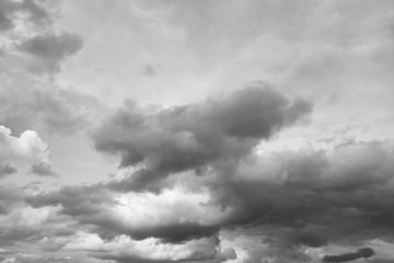 Clouds over horizon, storm.