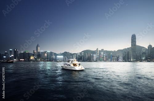 Fototapete Hong Kong Harbour at sunset