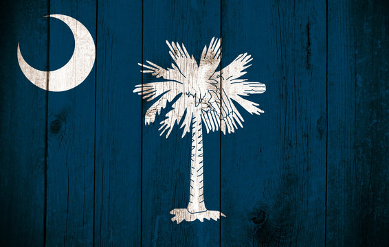 Wooden Flag of the South Carolina