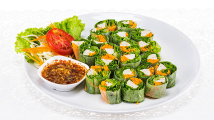 Fresh spring roll vietnamese food