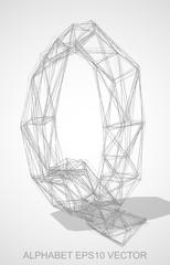 Vector illustration of a Pencil sketched Q. Hand drawn 3D Q.